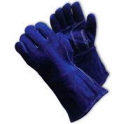 PIP Welder's Gloves, Shoulder Grade W/Cotton Foam Lining, Blue, L