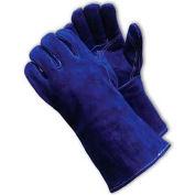 PIP Welder's Gloves, Side Split W/Cotton Foam Lining, Blue, L