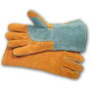 PIP Welder's Gloves, Side Split W/Cotton Foam Lining, Brown, L
