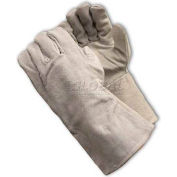 PIP Welder's Gloves, Shoulder Grade W/Cotton Lining, Gray, Right Hand Only, L