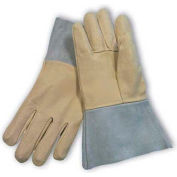 PIP Mig Tig Welder's Gloves, Top Grain Pigskin, Split Leather Cuff, Kevlar Sewn, Right Hand Only, L