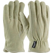 PIP Insulated Top Grain Cowhide Drivers Gloves, Fleece Pile Lining, L