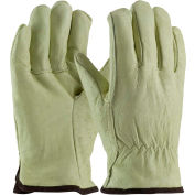 PIP Insulated Top Grain Pigskin Drivers Gloves, White-Thermal Lined, XL