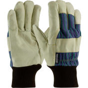 PIP Pigskin Insulated Leather Palm Gloves W/ 3M® Thinsulate™ Lining, Striped Fabric, L