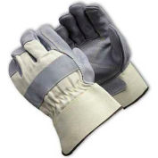 PIP Heavy Weight Side Split Cowhide Leather Palm Gloves, Double Leather Palm, XL