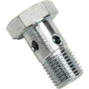 Push-Lok Hose Fitting, 12mm Banjo Bolt With Din Metric Thread, Steel - Pkg Qty 10