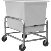 "Prairie View Bulk Mover with White Tub LUGCT1BK4-NBT - 4 Bushel, 32-3/4""L x 21-1/4""W x 36""H"