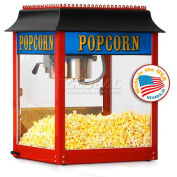 Paragon 1106910 Antique 1911 Popcorn Machine - 6 Oz Red Original Popper, 113 One-Oz Servings Per Hr