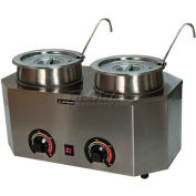 "Paragon 2029A Pro-Deluxe Can Dual Warmer Ladle Unit, 19-3/4""W x 11-3/4""D x 9""H - Model A"