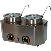 "Paragon 2029A Pro-Deluxe Can Dual Warmer Ladle Unit, 19-3/4""W x 11-3/4""D x 9""H - Model A"