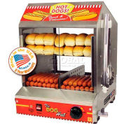 Paragon 8020 Dog Hut™ Hot Dog Steamer And Merchandiser, 175 Hot Dogs/40 Buns 120V