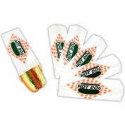 Paragon 8051SC Hot Dog Paper Bags - Split Case, 1000 Qty