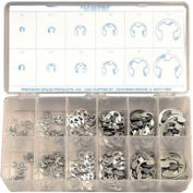 255 Piece Metric E-Clip Assortment Maintenance Kit - Made In USA