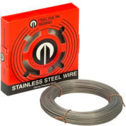 "0.007"" Diameter Stainless Steel Wire, 1 Pound Coil"