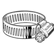 "B24HSPX 316 Stainless Steel Worm Gear Hose Clamp, 1-1/16"" - 2"" Clamping Dia. 10-Pack"