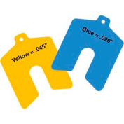 "3"" x 3"" x 0.045"" Yellow Sof' Shoe® Elastomer Shim (Pack of 10) - Made In USA"