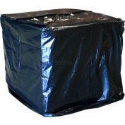 "Industrial Black Pallet Cover, 48"" X 40"" X 100"", 2 Mils - Pkg Qty 50"