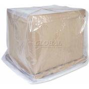 "Industrial Clear Pallet Cover,  52"" X 44"" X 90"", 3 Mils - Pkg Qty 50"