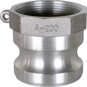"1-1/4"" Aluminum Camlock Fitting - Male Coupler x FPT Thread"