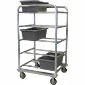 "PVI Aluminum Lug Cart HDLUGDB10 - 10 Lug Cap. Heavy Duty All-Welded 31-1/4""L x 27-1/2""W x 57""H, Gray"