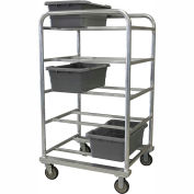 "PVI Aluminum Lug Cart HDLUGDB10 - 10 Lug Cap. Heavy Duty All-Welded 31-1/4""L x 27-1/2""W x 57""H, Gray"