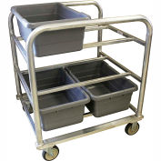 "PVI Aluminum Lug Cart HDLUGDB6 - 6 Lug Cap. Heavy Duty All-Welded 31-1/4""L x 27-1/2""W x 35""H, Gray"