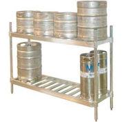 "Prairie View KR204793-2, Keg Shelving/2-Shelf  , I.D W20"" x 93""L, O.D. W20"" x 96-3/4""L, Aluminum"