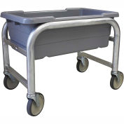 "PVI Aluminum Lug Cart LUGCT1 - 1 Lug Cap. All-Welded 24-1/4""L x 16-1/2""W x 20""H, Gray, No lugs"