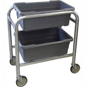 "PVI Aluminum Lug Cart LUGCT2 - 2 Lug Cap. All-Welded 28-1/2""L x 16-1/2""W x 33""H, Gray"