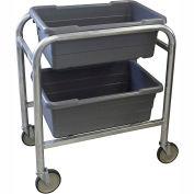 "PVI Aluminum Lug Cart LUGCT2 - 2 Lug Cap. All-Welded 28-1/2""L x 16-1/2""W x 33""H, Gray"