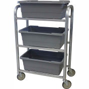 "PVI Aluminum Lug Cart LUGCT3 - 3 Lug Cap. All-Welded 28-1/2""L x 15-1/2""W x 43-3/4""H, Gray"
