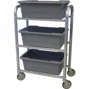 "PVI Aluminum Lug Cart LUGCT3 - 3 Lug Cap. All-Welded 28-1/2""L x 15-1/2""W x 43-3/4""H, Gray"