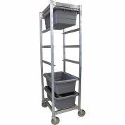 """PVI Aluminum Lug Cart LUGCT6-KD - 6 Lug Cap. Unassembled 27""""L x 20""""W x 70-1/2""""H, Gray"""