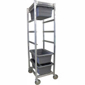 "PVI Aluminum Lug Cart LUGCT6 - 6 Lug Cap. All-Welded 27-1/4""L x 19-1/2""W x 73""H, Gray, No Lugs"