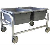 """PVI Aluminum Lug Cart LUGDB2 - 3 Lug Cap. All-Welded Side by Side 33""""L x 24-1/2""""W x 20""""H, Gray"""