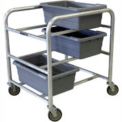 "PVI Aluminum Lug Cart LUGDB6 -  6 Lug Cap. All-Welded 32-3/4""L x 28-1/2""W x 36-3/4""H, Gray"