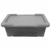 """PVI LUG GRAY FDA Plastic Tub - For Lug Carts 25""""L x 15-1/2""""W x 8-3/4""""H, Gray"""