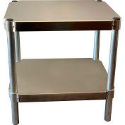 "Prairie View N203024-2, Shelving Unit, 2 shelf, 20""W x 30H x 24""L, Aluminum"