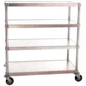 "Prairie View N244848-4-CHL2, Mobile Shelving Unit, 4-Shelf, 24""W x 54""H x 48""L, Aluminum"