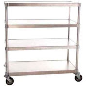 "Prairie View A246048-4-CHL2, Mobile Shelving Unit, 4-Shelf, 24""W x 66""H x 48""L, Aluminum"