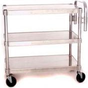 """Prairie View AUC1848-3, Utility Cart, 3-Shelf, 18""""W x 36""""H x 48""""D, Aluminum"""