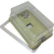 "PSG BTG54VL Thermostat Guard Metal Hinged: 6.25""Hx4.75""Wx3""D"