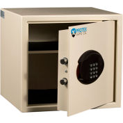 """Protex Hotel & Personal Laptop Safe With Electronic Lock BG-34 14-1/4"""" x 13-1/4"""" x 12-7/8"""" Beige"""