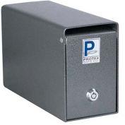 "Protex Undercounter Depository Drop Box SDB-100 with Tubular Lock 9-3/4""W x 3-3/4""D x 5-3/4""H Gray"