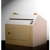 "Protex Wall Mount Locking Payment Depository Drop Box SDL-500 - 11-1/4""W x 15""D x 12-1/2""H, Beige"