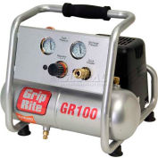 Grip-Rite Portable Air Compressor GR100, Hand Carry, 110V, 1HP, 1 Gal