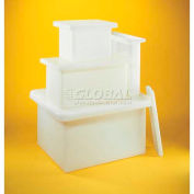 "Saint Gobain PP Rectangular Tank 14200-0035 - 11 Gal. 12""L x 12""W x 18""H, 3/16""Wall, Off White - Pkg Qty 4"