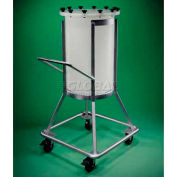 Saint-Gobain 2711-0200 Portable Tank Stand, Powder-Coated SS, White, 200 Liters