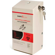 Post Medical Wall Mount Enclosure with Lock and Key, For 1.5 Qt. WD Series Sharps Containers