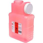 Post Medical 1.5 Gallon Leak-tight Sharps Container with Locking Screw Cap, Translucent Red, 22/CS